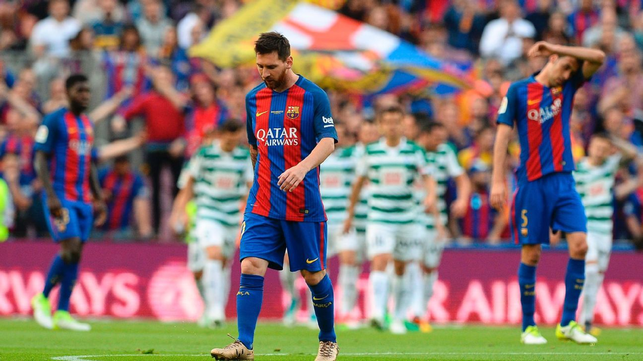 Barcelona ended up three points shy of the title in La Liga.