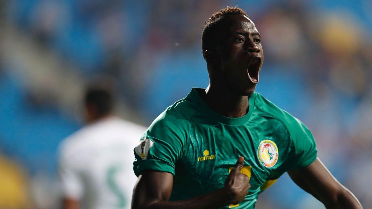 Ibrahima Niane celebrates his goal