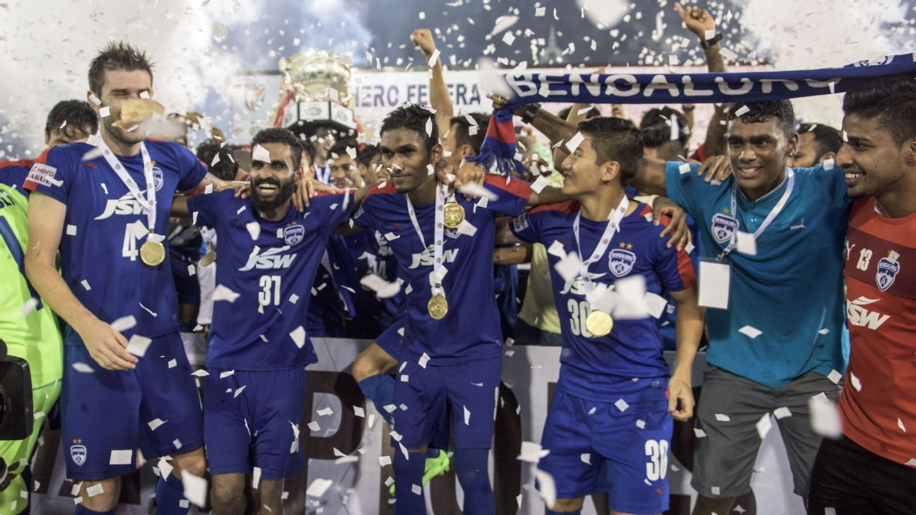 Next year's entrants from India in AFC competitions are confirmed. Federation Cup champions Bengaluru FC will represent India in the AFC Cup preliminary stages.