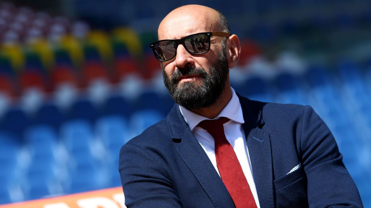 AS Roma's Sporting Director Ramon Rodriguez Verdejo Monchi is seen during the Italian Serie A soccer match between AS Roma and SS Lazio at Stadio Olimpico on April 30, 2017 in Rome, Italy. (Photo by Matteo Ciambelli/NurPhoto via Getty Images)
