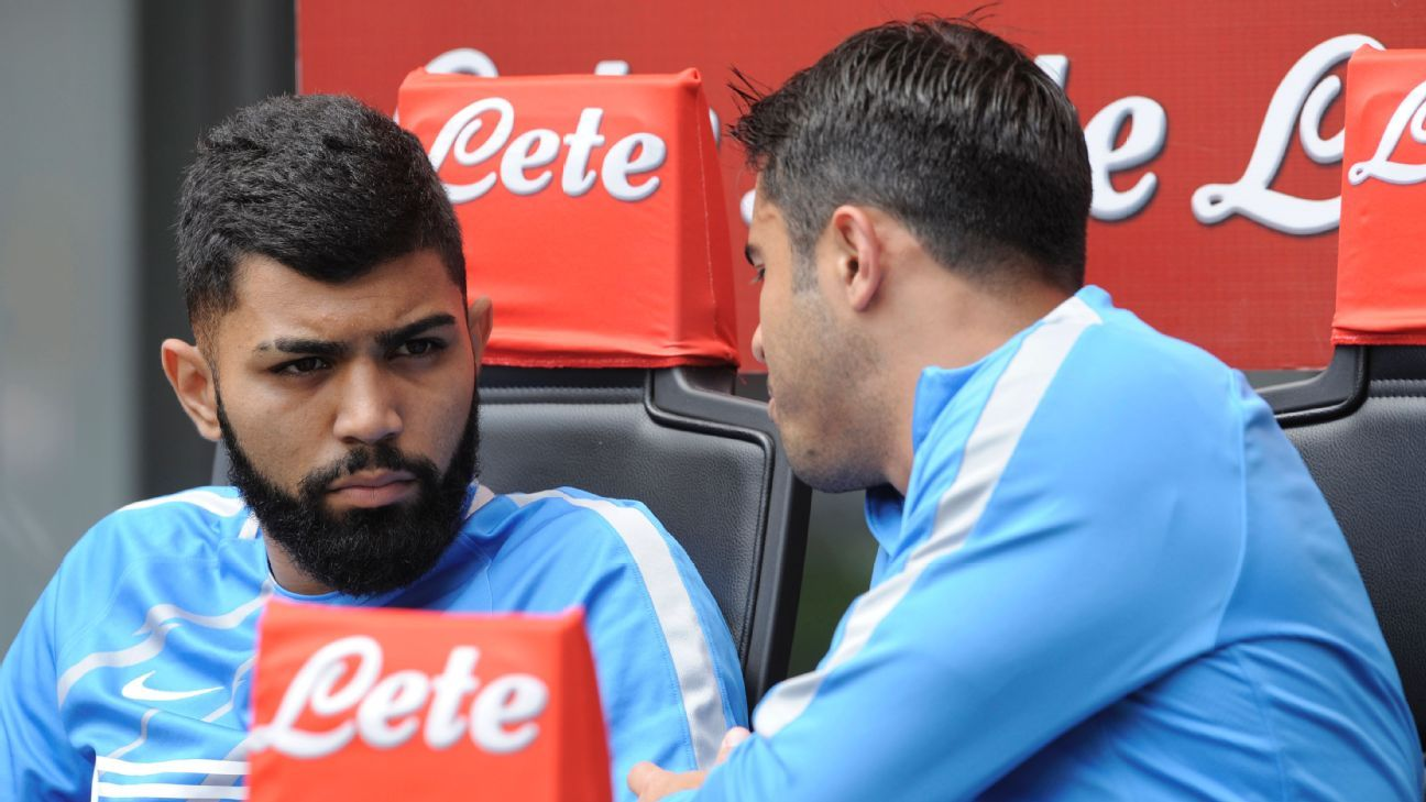 Gabigol on bench
