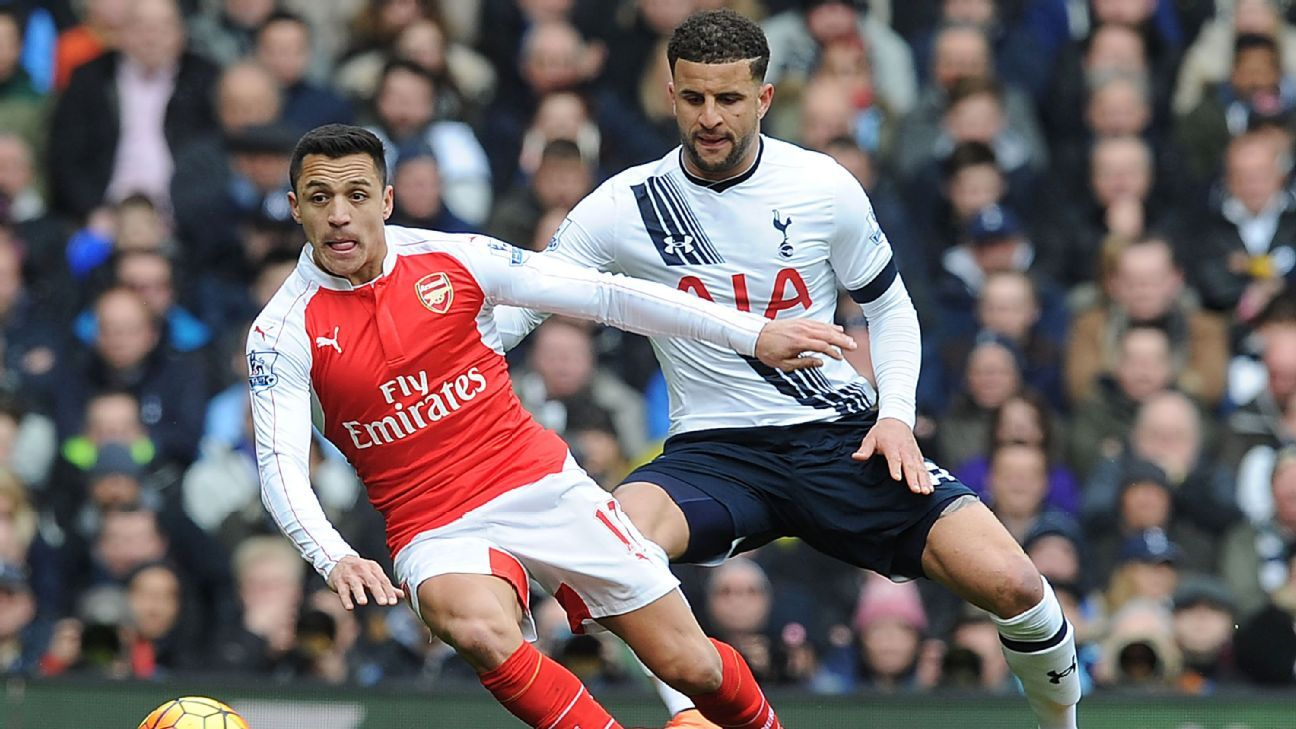 Alexis Sanchez and Kyle Walker