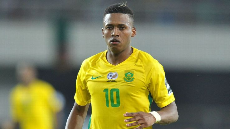 Luther Singh, striker for the South Africa Under-20 team