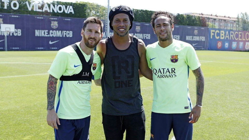 Lionel Messi, Ronaldinho and Neymar
