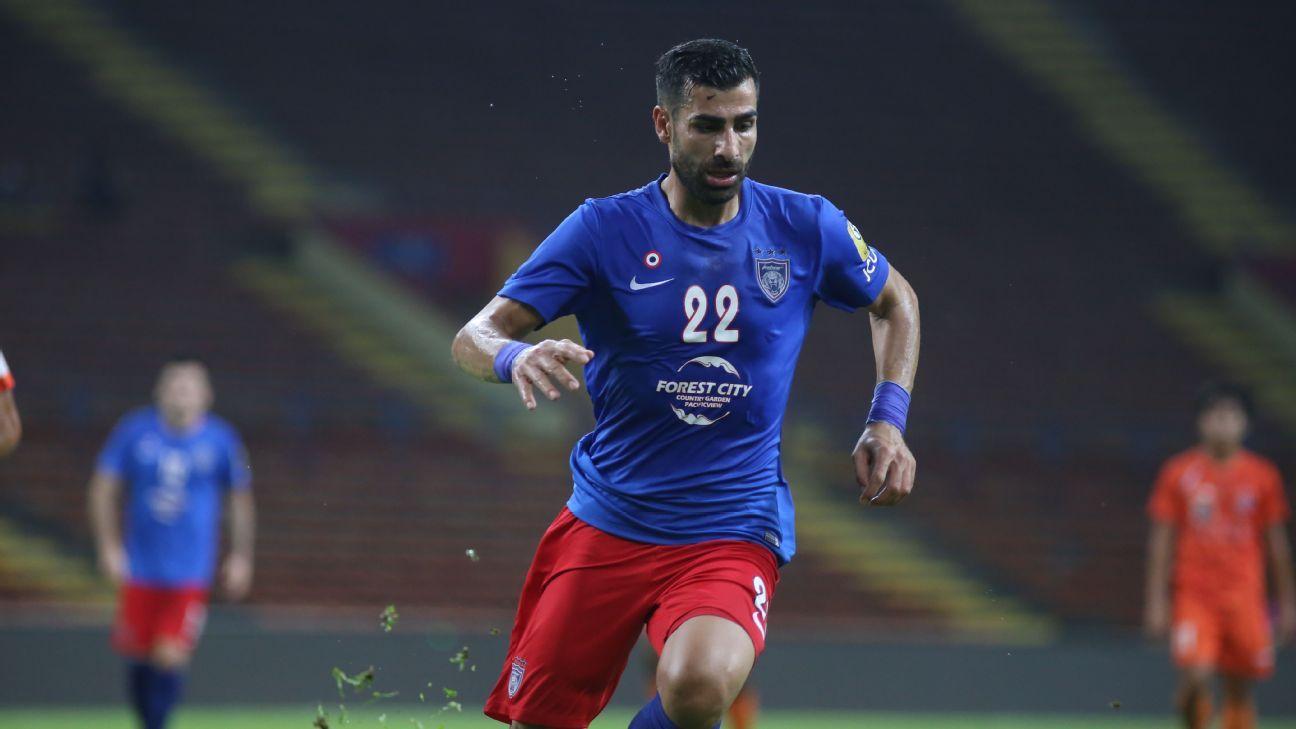 JDT striker Mohammed Ghaddar