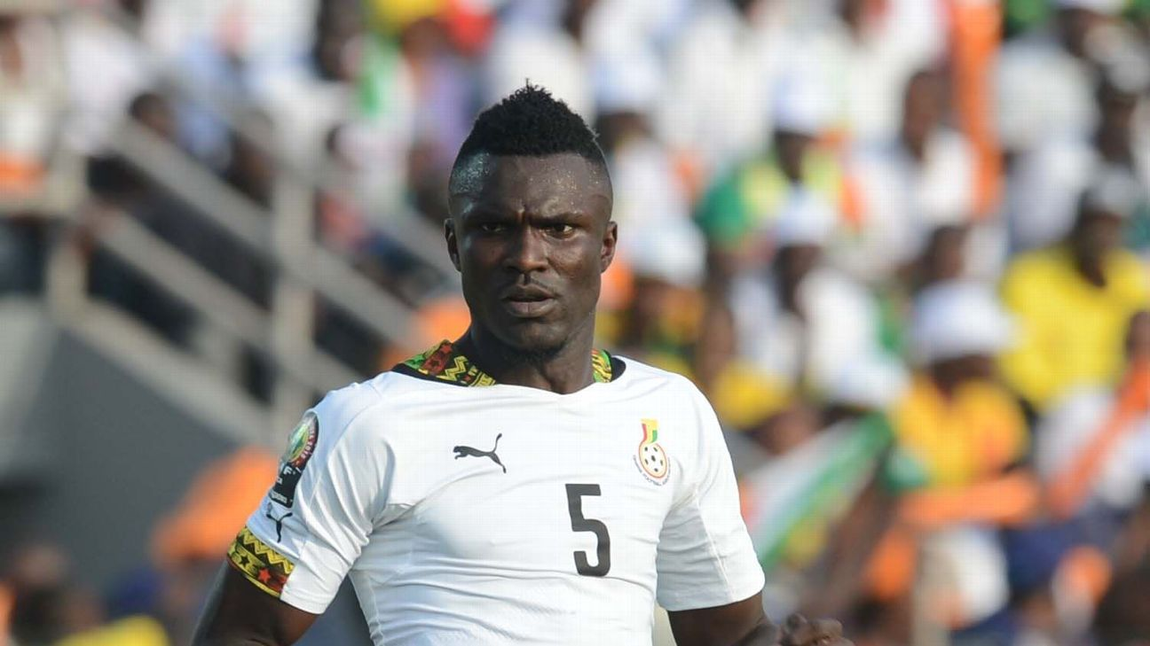 Mohammed Awal of Ghana during of the 2015 Africa Cup of Nations match between Senegal and  Ghana at Mongomo Stadium, Equatorial Guinea.