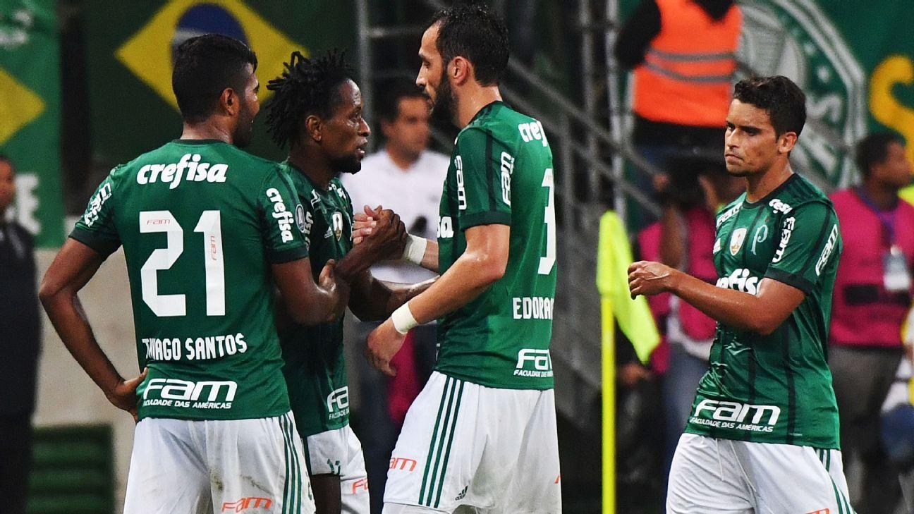 Palmeiras celeb Copa Lib 170524