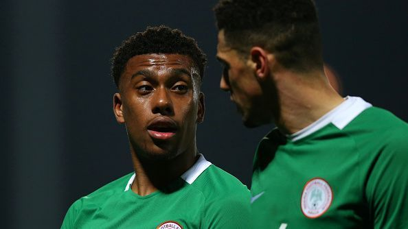 Alex Iwobi of Nigeria during the International Friendly match between Nigeria and Senegal at The Hive.