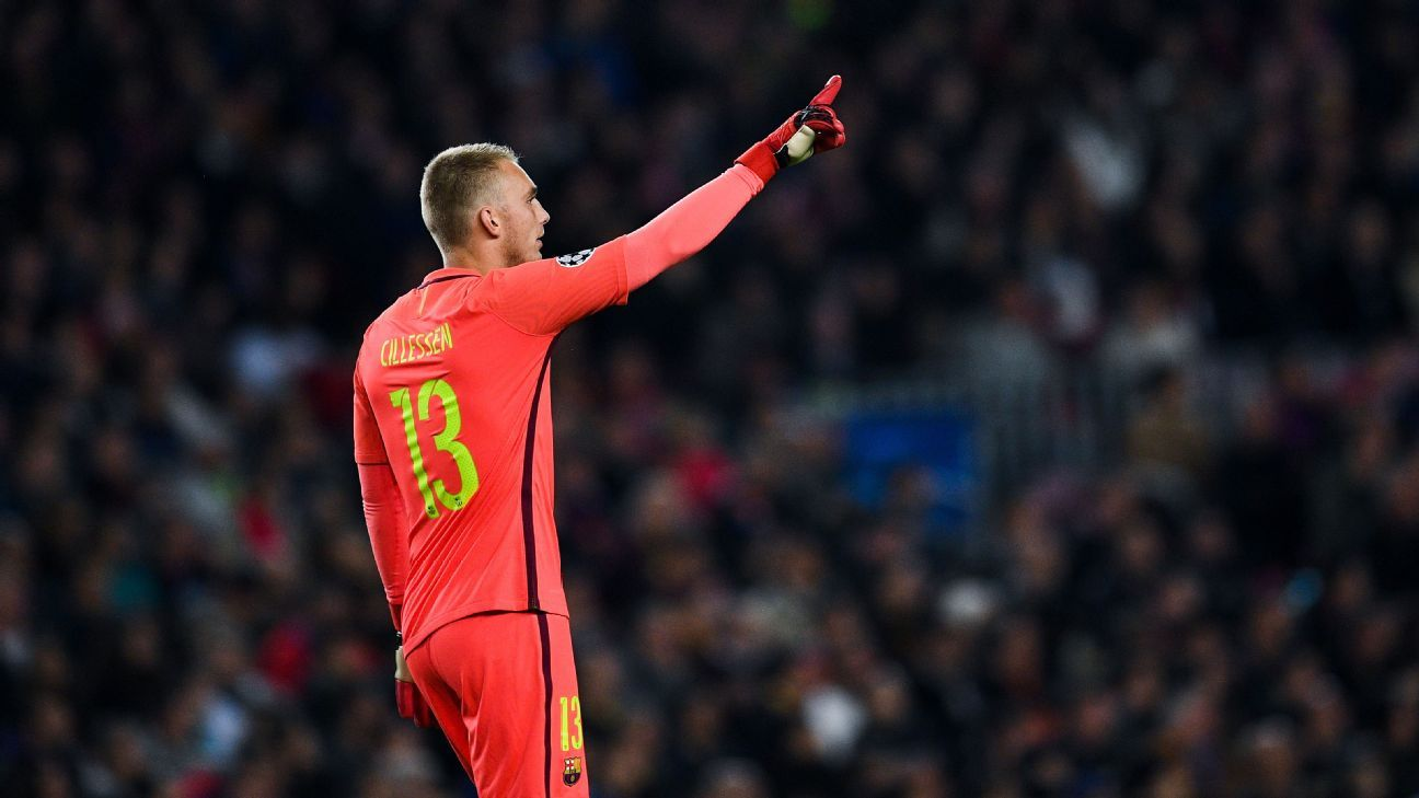 Jasper Cillessen has made just one La Liga appearance since joining Barcelona in 2016.