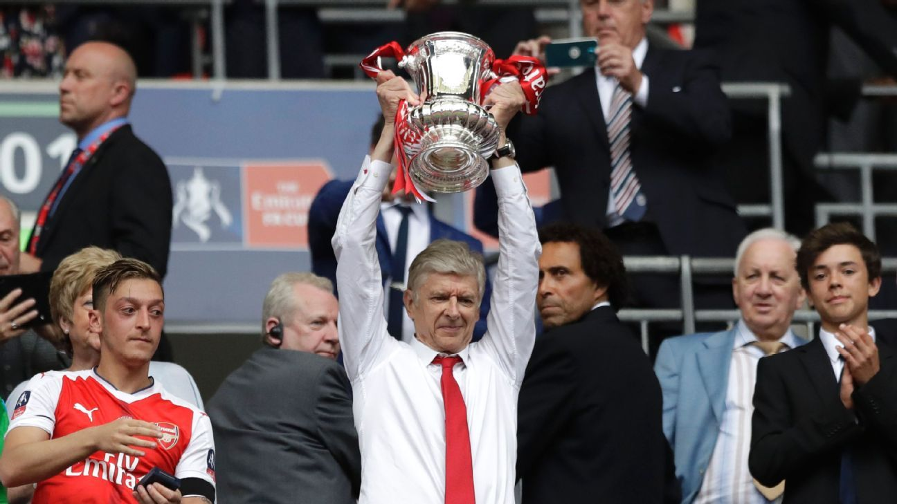 Arsene Wenger lifted the FA Cup seven times as Arsenal boss.