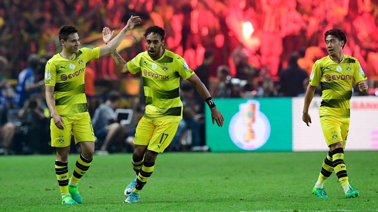 Pierre-Emerick Aubameyang scored the winner for Dortmund.