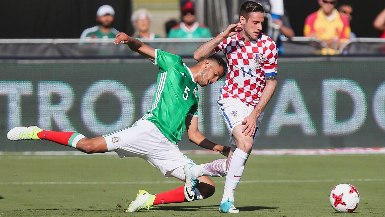 Mexico and Croatia faced off in a friendly last year in Los Angeles.