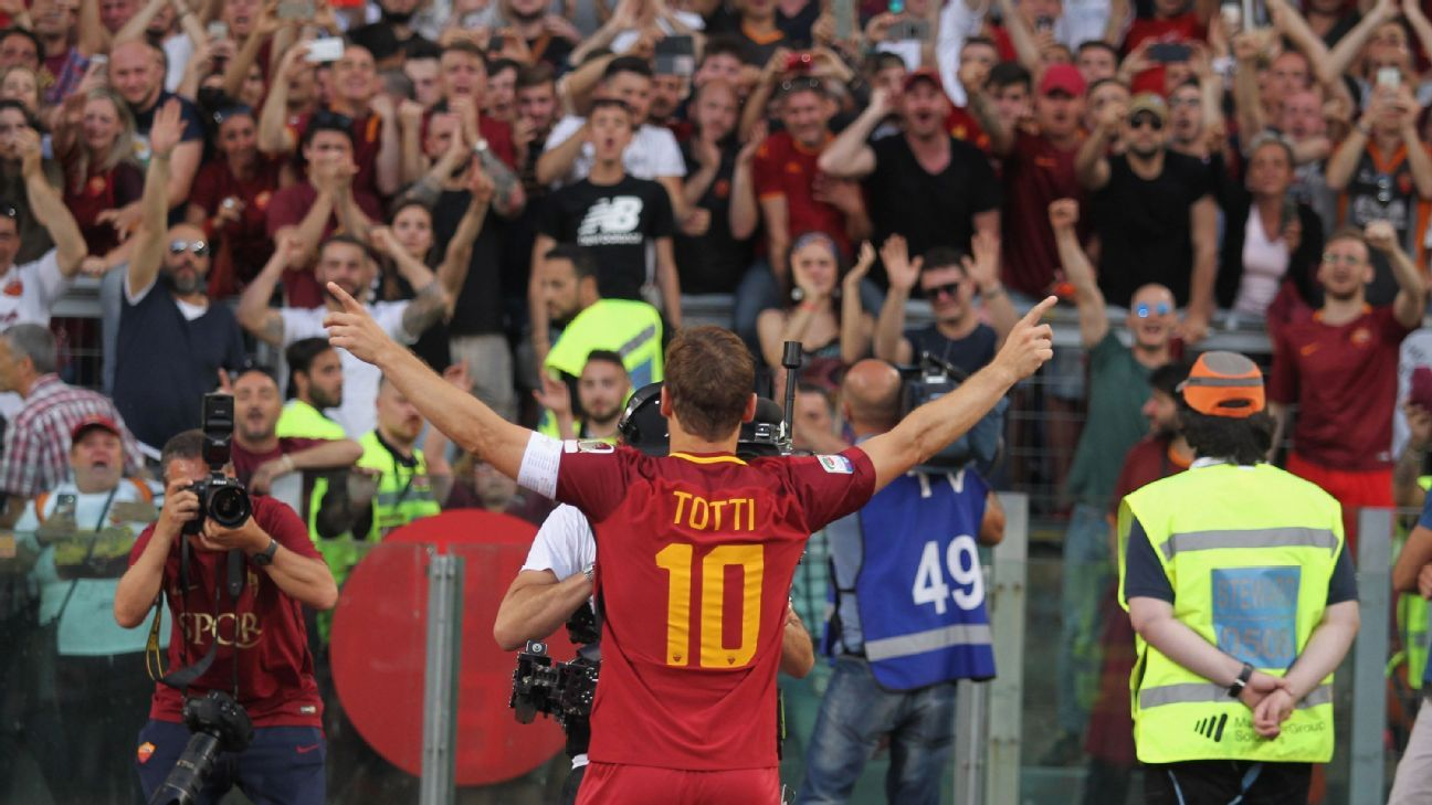 Retiring Roma legend Francesco Totti: 'I'm not ready to say it's over'