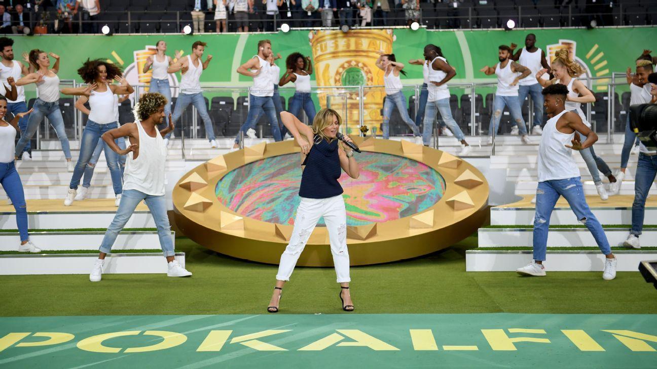 German FA blasted for 'Hollywood' half-time show at DFB Pokal final