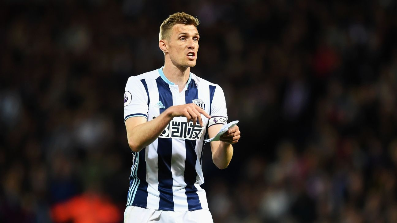 Darren Fletcher joined West Brom from Manchester United in 2015.