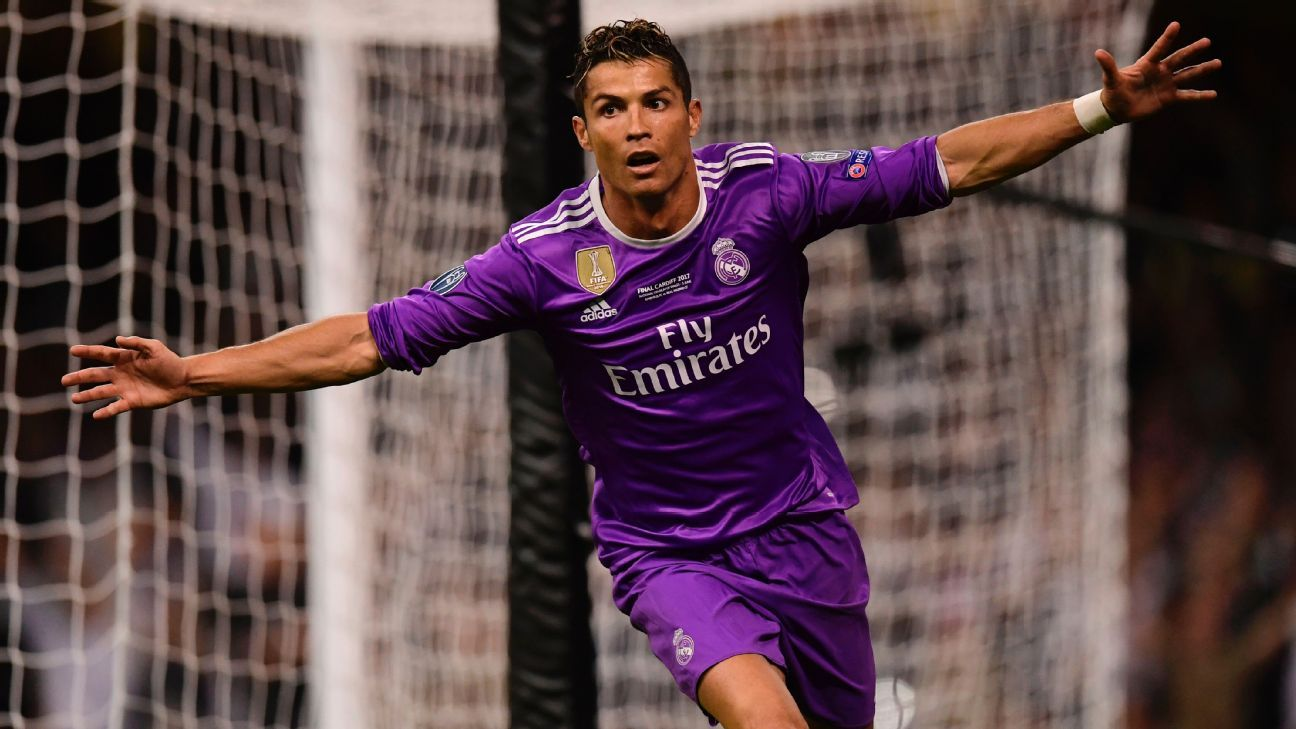 Cristiano Ronaldo scored in each half for Real Madrid in Cardiff.