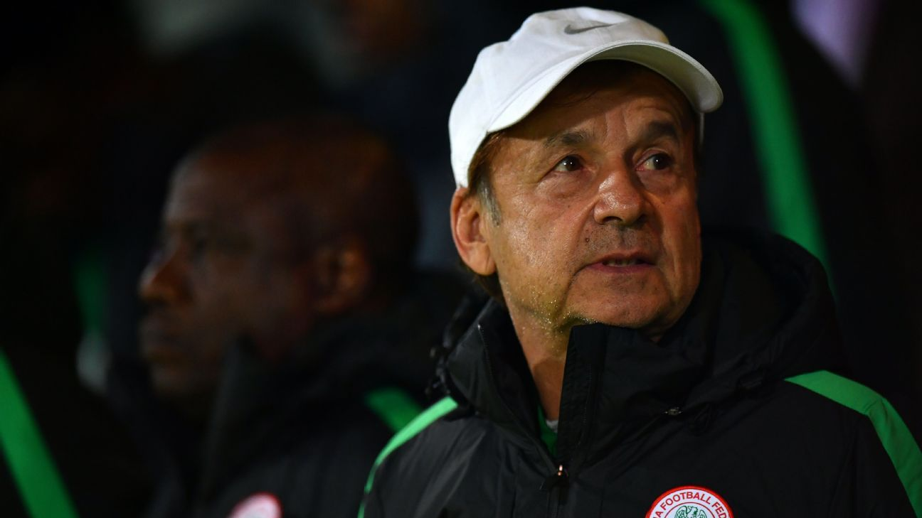 Nigeria coach Gernot Rohr