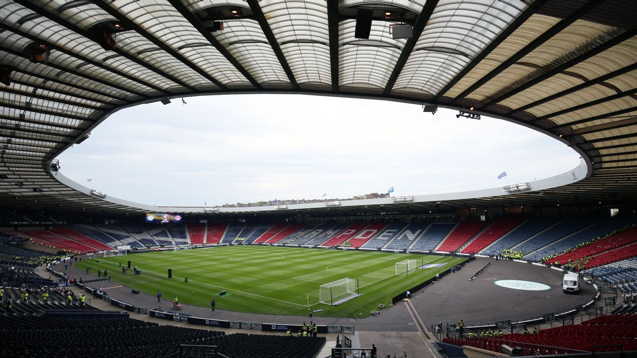 Hampden Park is home to Scotland's international matches.