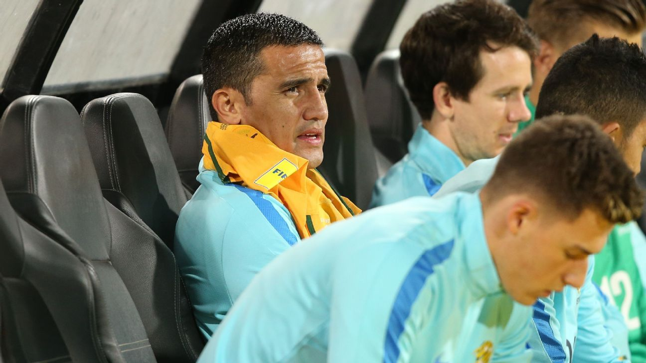 Tim Cahill on bench for Australia v Saudi