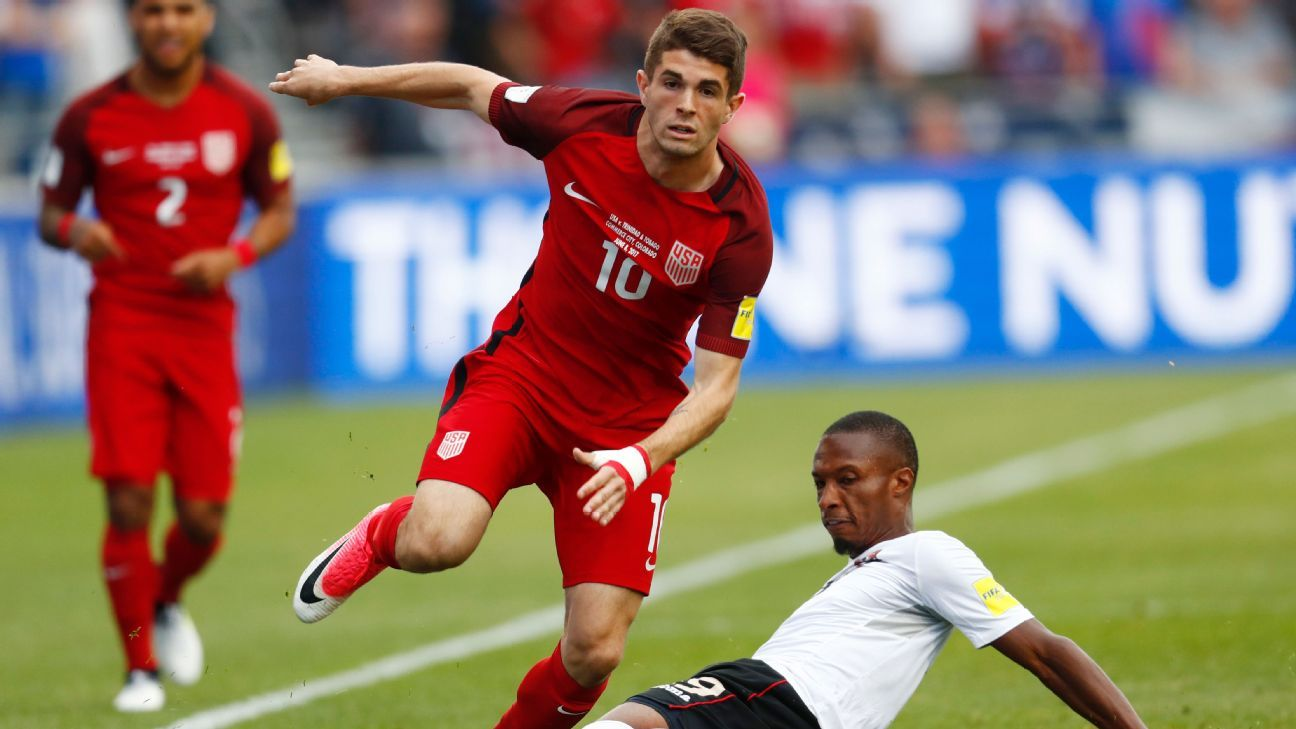 Christian Pulisic scored two goals in the United States' win against Trinidad and Tobago.