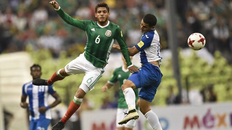 J Dos Santos action vs Honduras 170608