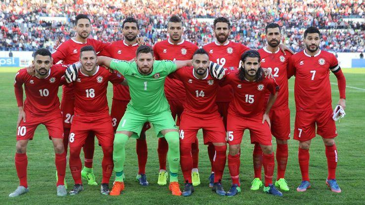 Lebanon national team in 2017