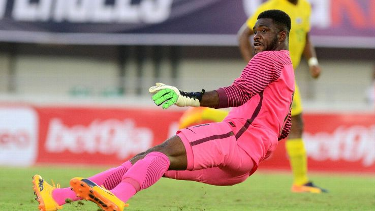 Nigeria goalkeeper Daniel Akpeyi has fallen down the GK pecking order, behind Francis Uzoho.
