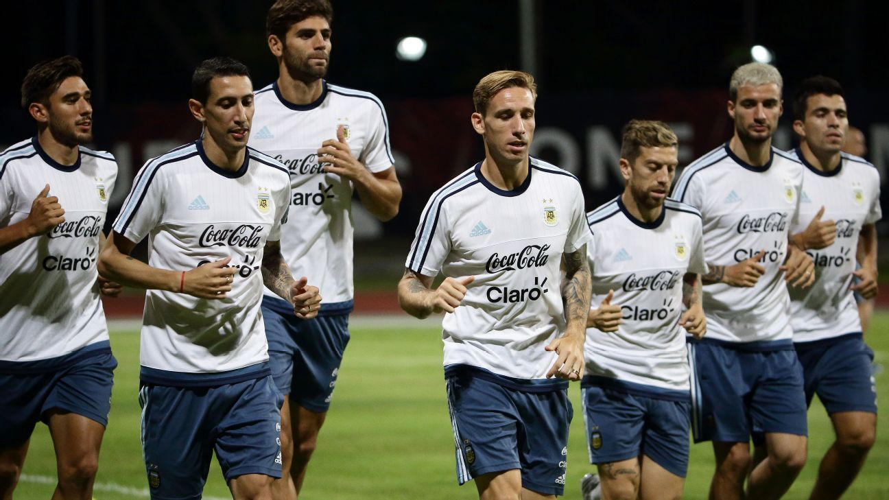 Argentina training session in Singapore