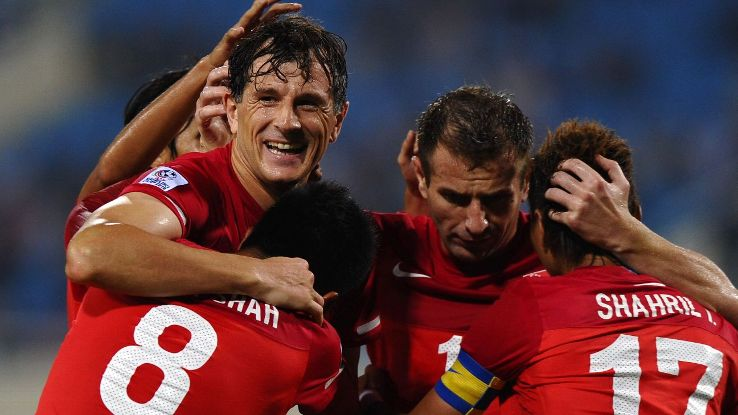 Aleksandar Duric of Singapore in 2010 Suzuki Cup