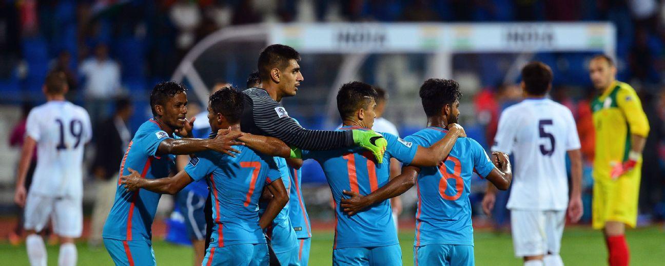 Goalkeeper Gurpreet Singh Sandhu (middle) says India vs UAE will be a cracking game.