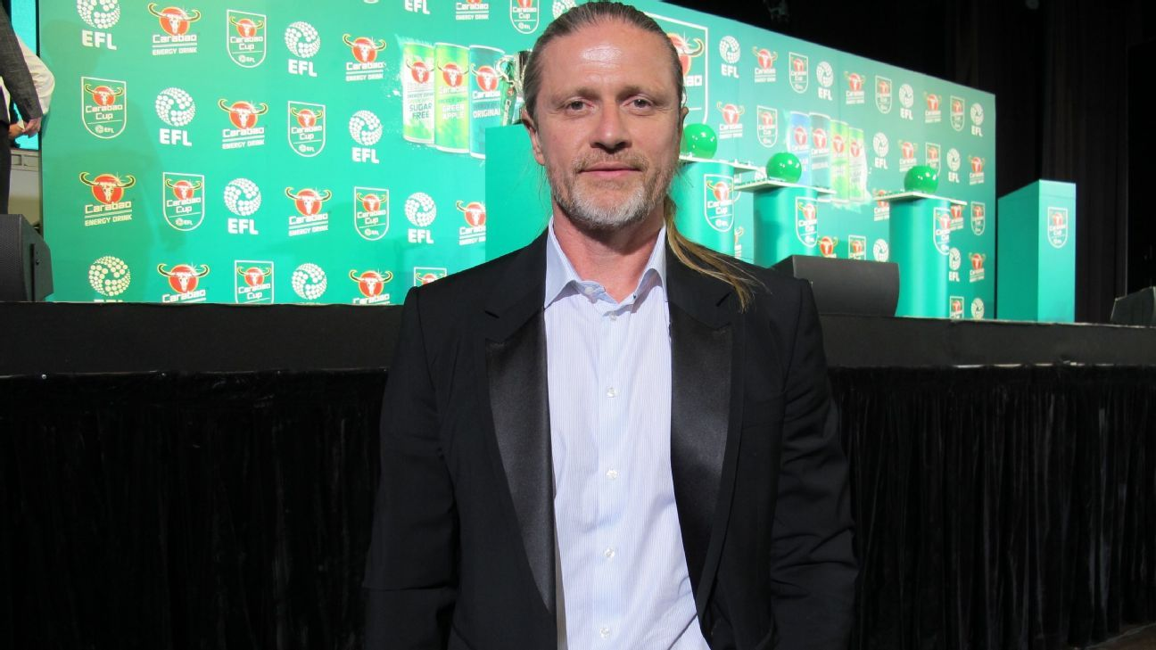 Emmanuel Petit at EFL Cup draw in Bangkok
