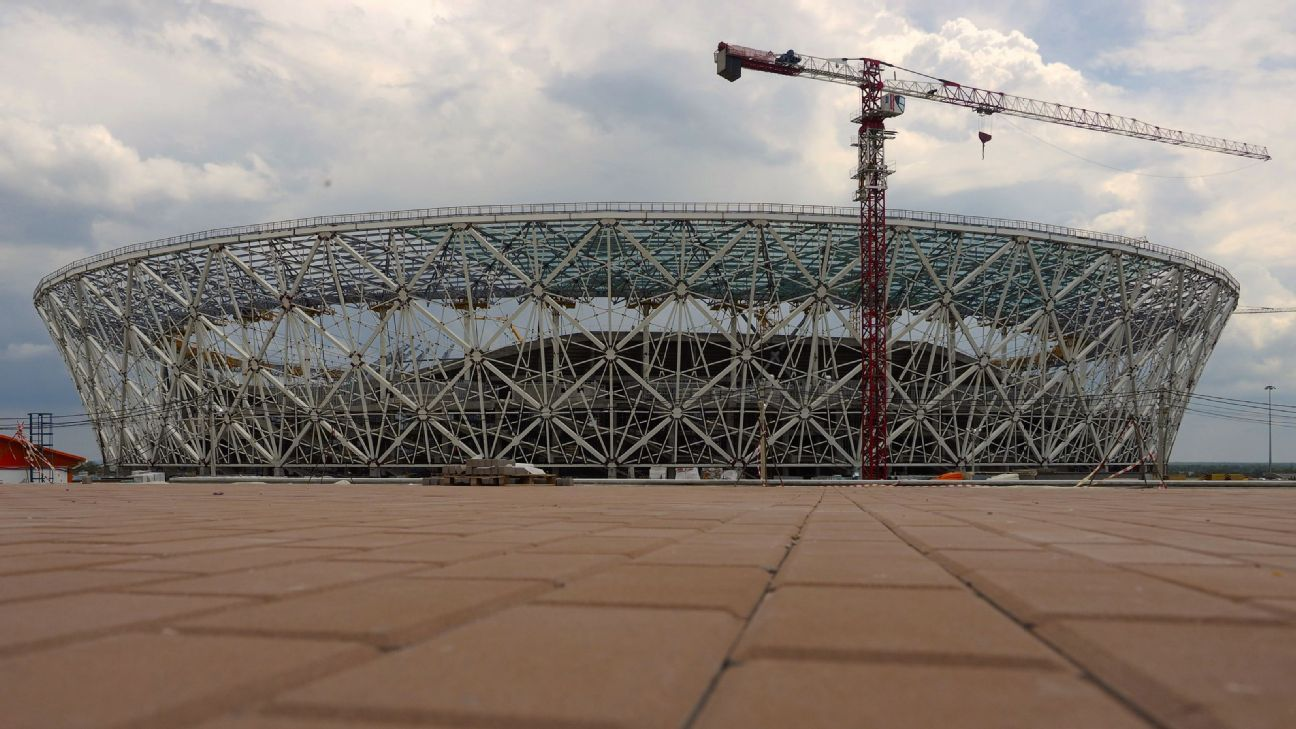 Volgograd Arena Stadium is close to Grozny, the capital city of Chechnya.