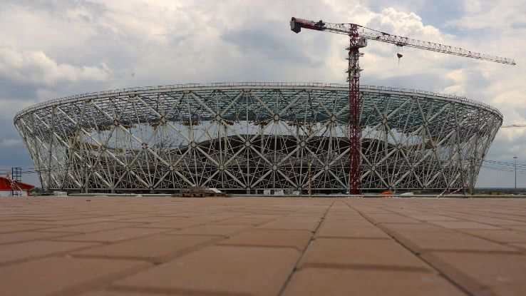 Volgograd Arena Stadium is close to Grozny, the capital city of Chechnya.