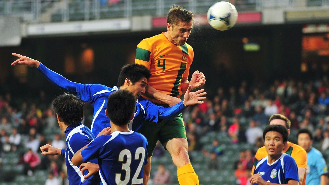 Australia defender Dino Djulbic v Chinese Taipei 2012