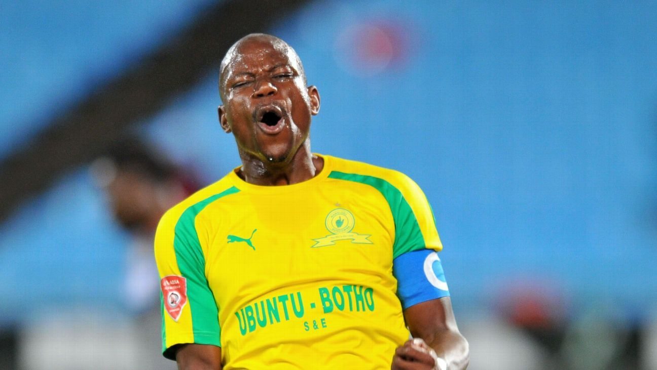 Hlompho Kekana of Mamelodi Sundowns during the 2017 Absa Premiership 2016/17 match between Mamelodi Sundowns and Supersport United at the Loftus Stadium, South Africa.