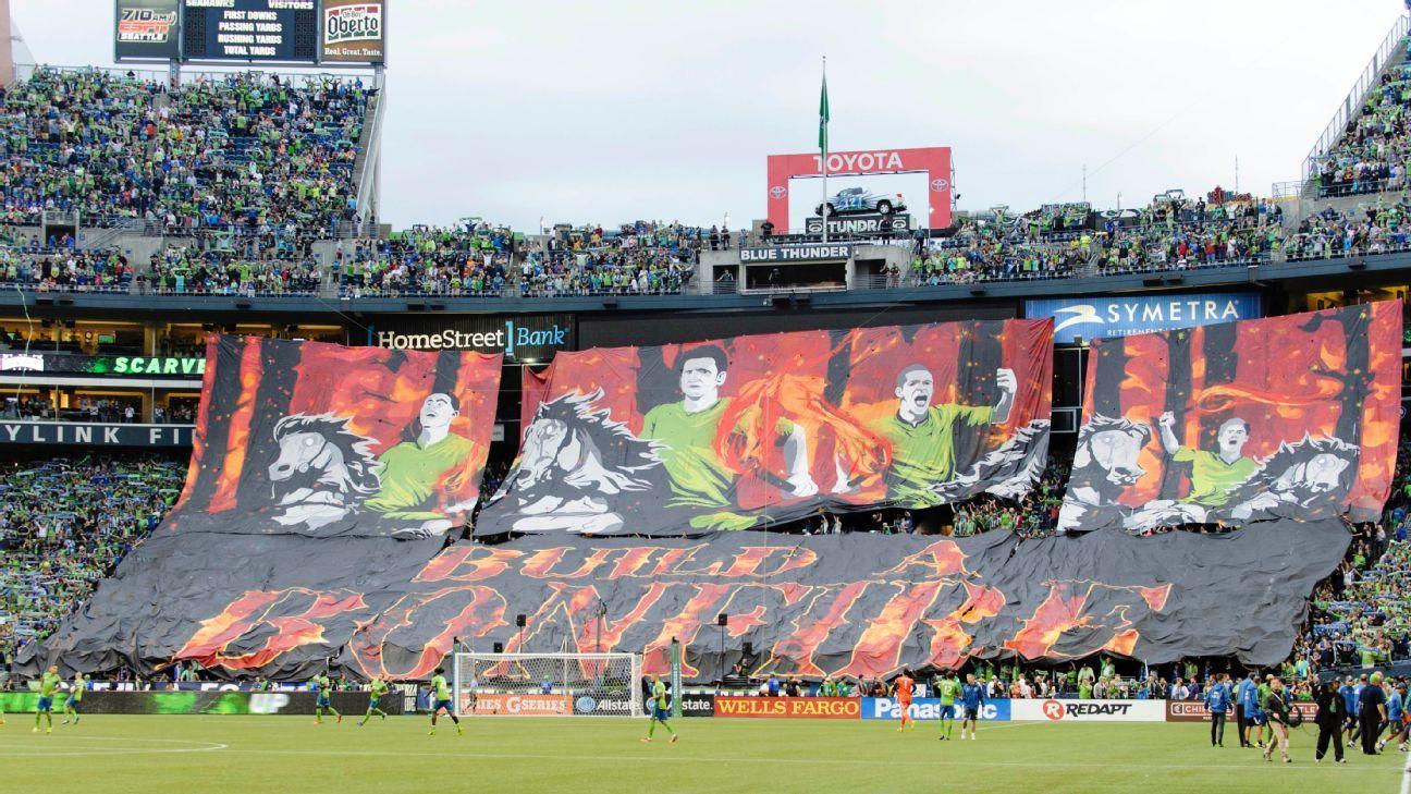 Seattle Sounders bonfire tifo