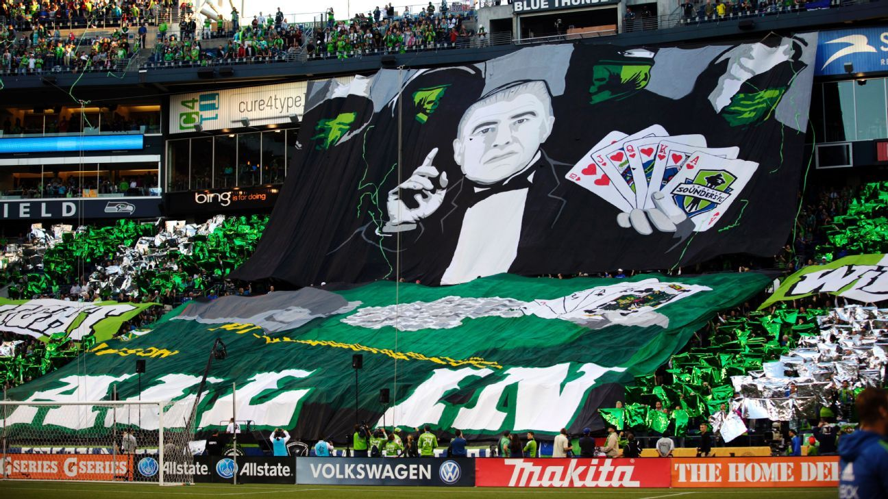 Seattle Sounders all in tifo