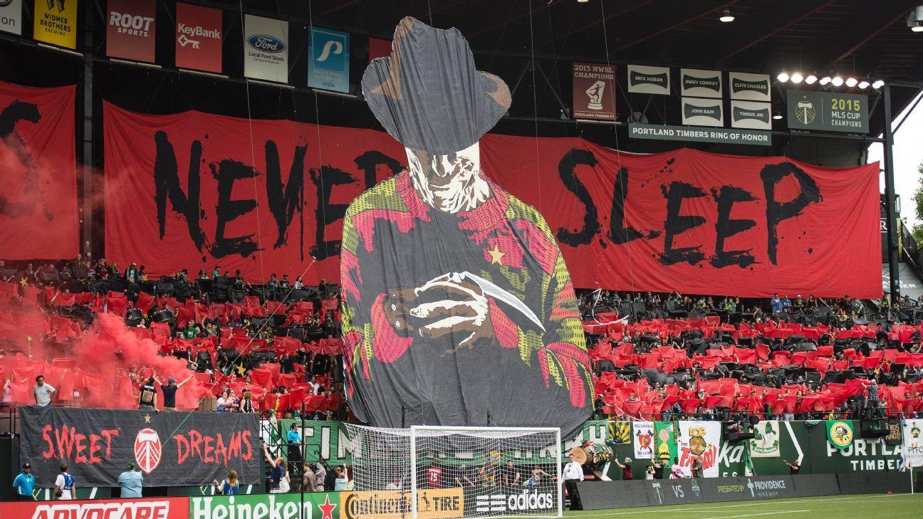 Portland legends never sleep tifo