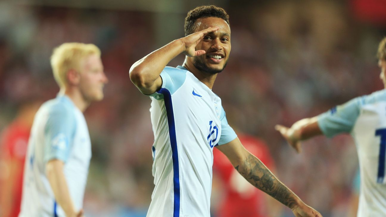 Lewis Baker and England are into the semifinals of the European Under-21 Championship.