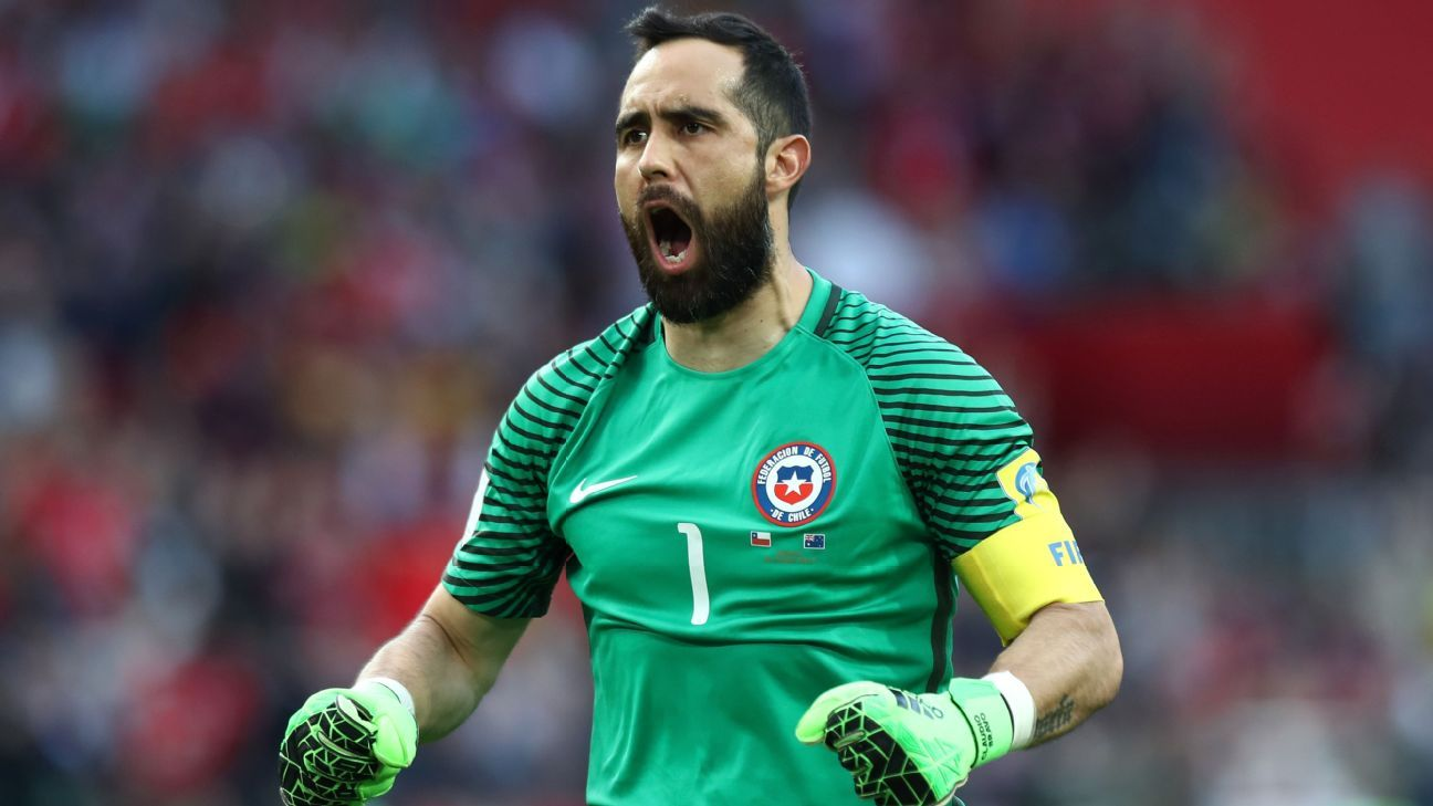 Claudio Bravo shrugs off jokes as Chile reach Confederations Cup