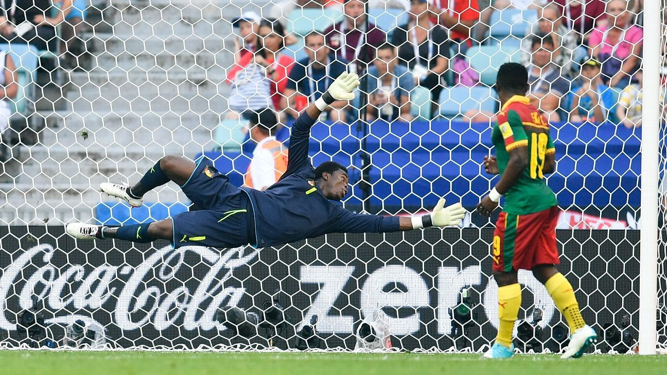 Cameroon goalkeeper Fabrice Ondoa was one of the stars of the 2017 FIFA Confederations Cup, but can he hold out Nigeria's Odion Ighalo and co when the nations meet in back-to-back FIFA World Cup qualifiers?