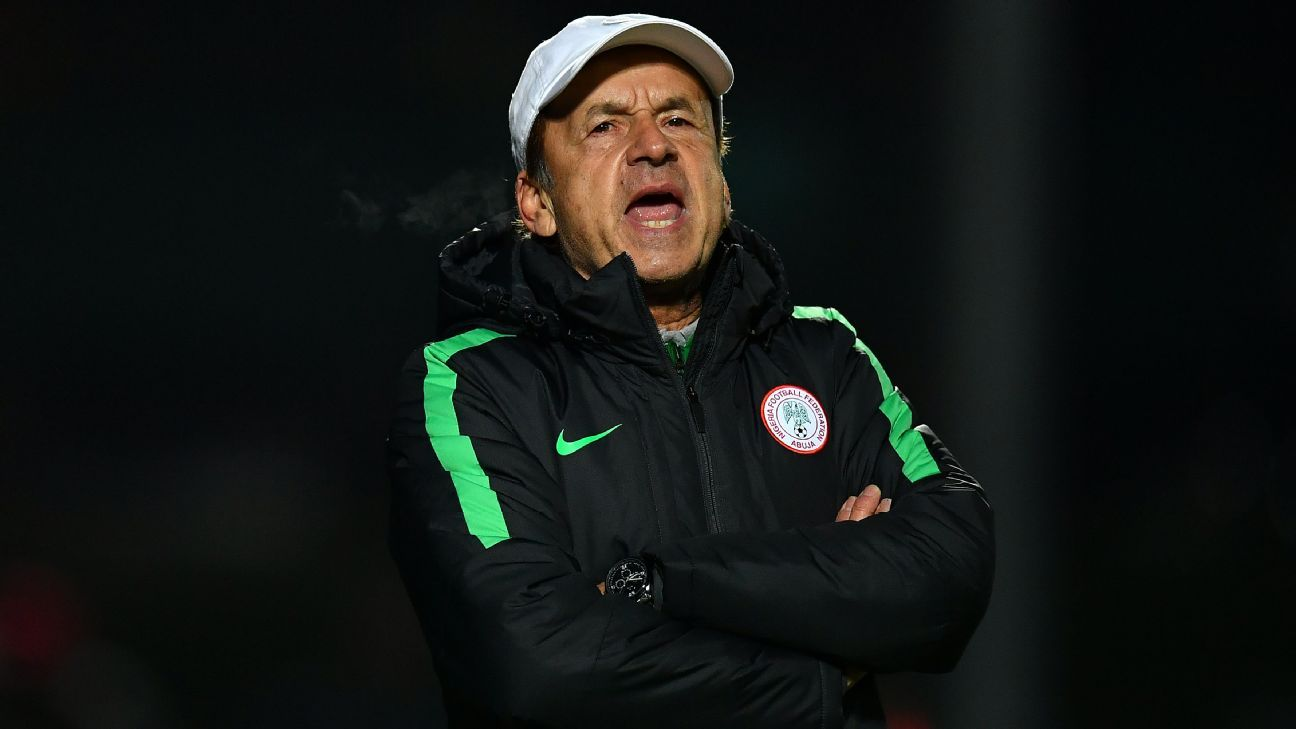 Nigeria's Gernot Rohr barks out instructions
