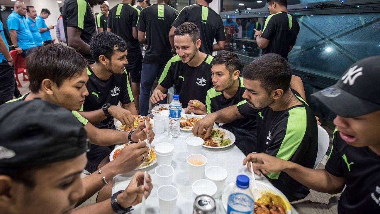 Stipe Plazibat and Home United Ramadan feast