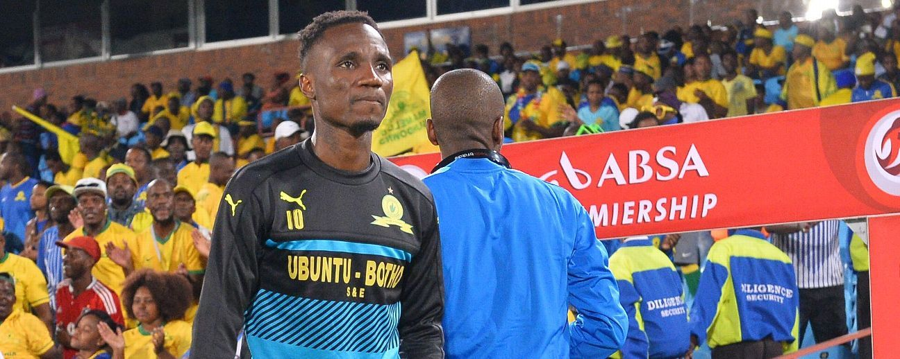 Teko Modise on the sidelines for Mamelodi Sundowns