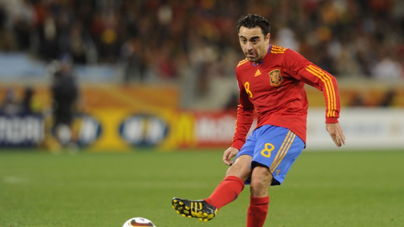 Xavi during the 2010 World Cup