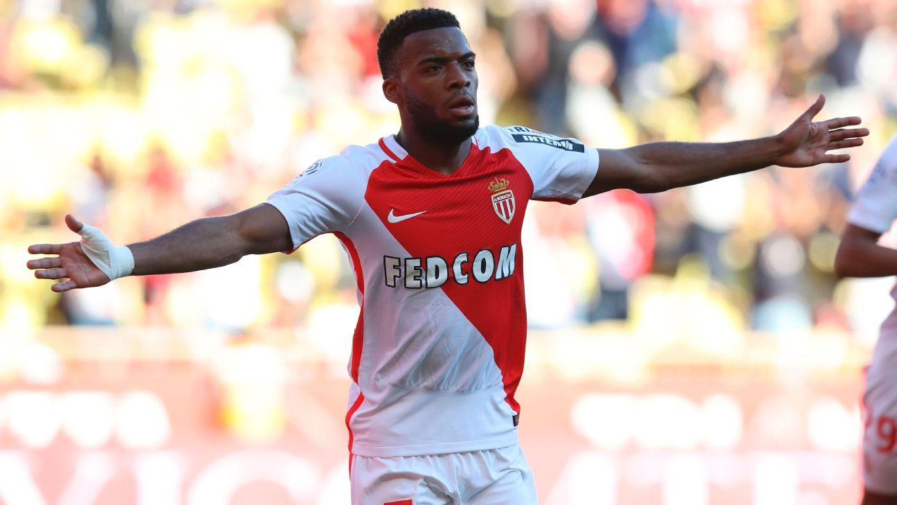 Thomas Lemar scored 14 and assisted 14 goals in Ligue 1 and the Champions League for Monaco in 2016-17.