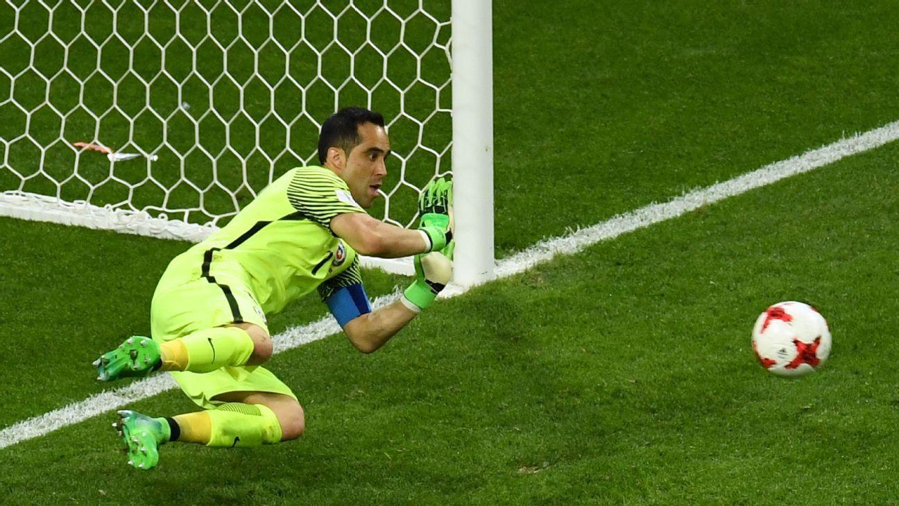 Claudio Bravo saved all three of Portugal's penalties on Wednesday.