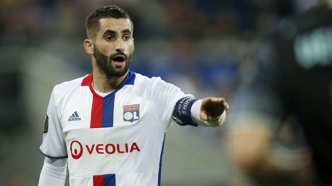 Maxime Gonalons in action for Lyon during a Europa League game against Ajax.