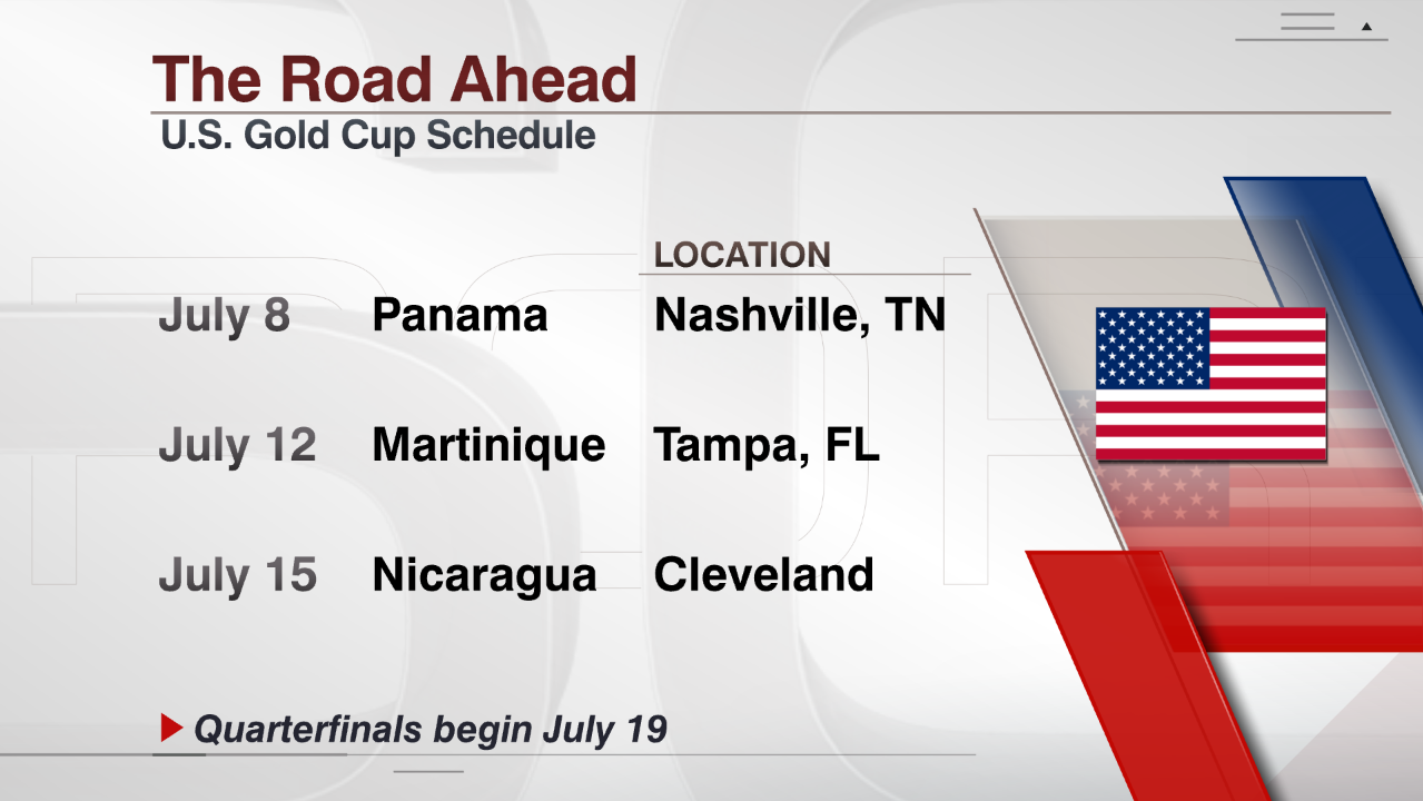 United States' 2017 CONCACAF Gold Cup Group B schedule.