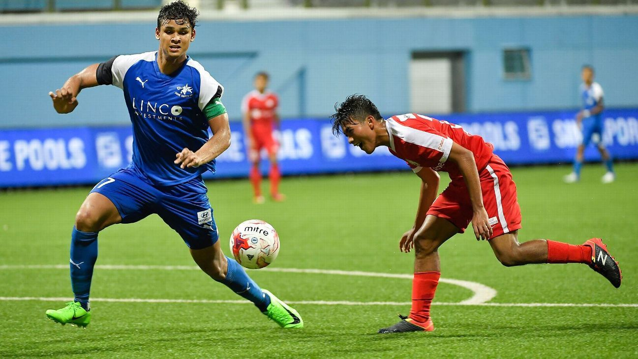 Home United defender Irfan Fandi